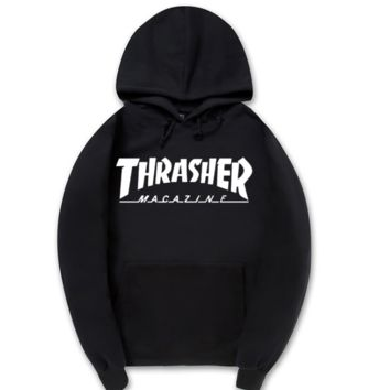 Simple Unique Unisex Thrasher Printed Hoodies