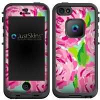 Pink Turquoise Flower Skin Decal for Lifeproof iPhone 5 Case Design (Case not included)