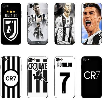 Cristiano Ronaldo juventus logo phone case For iphone 7 6 6s 8 8plus X XR XS MAX 5s Cristiano Ronaldo case cover for iphone X