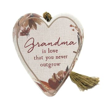 Home Decor GRANDMA IS LOVE ART HEART Polyresin Mother's Day 1003480228