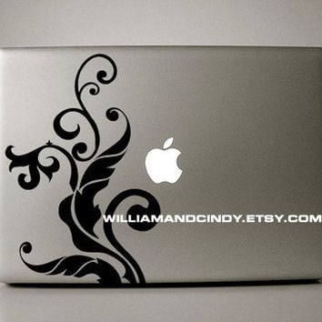 April Floral - macbook decal mac decal macbook sticker macbook air macbook pro decal