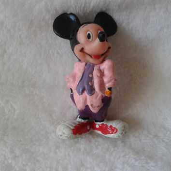 Vintage Walt Disney Applause Mickey Mouse  pvc  miniature figure