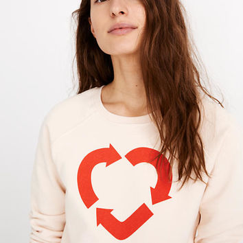 Madewell x charity: water Heart Recycling Sweatshirt