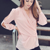Dusty Pink Layered Blouse