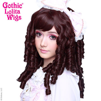 Gothic Lolita Wigs®  Ringlet Redux™ Collection - Black Mahogany Burgundy -00505