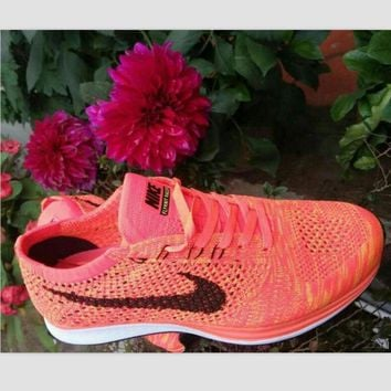 NIKE woven casual shoes light running shoes Rose red(black hook)