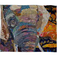 Elizabeth St Hilaire Nelson Elephant Fleece Throw Blanket