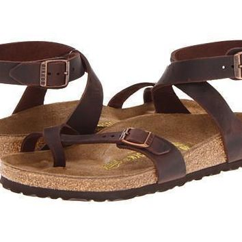 Birkenstock Yara Sandals Flip Flops Habana Oiled Leather - Beauty Ticks
