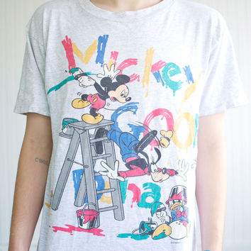 90's Mickey Mouse Paint Tee