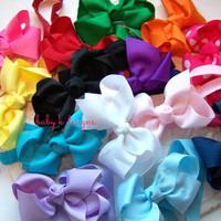 TEN You Pick Any 10 Bow Headband - Perfect for Newborn, Baby Girls and Big girls / Girls Simple 10 Bow Headband U PICK