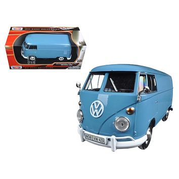 Volkswagen Type 2 (T1) Delivery Van Dove Blue 1/24 Diecast Model Car by Motormax