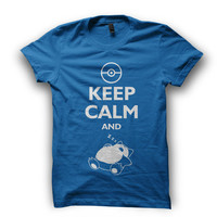 Pokemon T-shirt. Snorlax Keep Calm and Sleep Zzzz - MEN'S Available in many sizes and colours