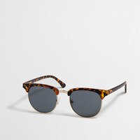 Factory retro frame sunglasses