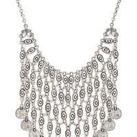Natalie B Jewelry Azra Necklace in Metallic Silver