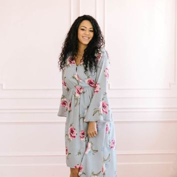 Mantra Hi-Low Floral Maxi Dress