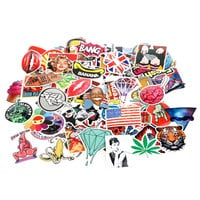100X Skateboard Snowboard Graffiti Stickers Laptop Luggage Car Bike Phone Decals JUN07