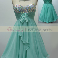 CW62217 mint / Coral sweetheart off the shoulder short beaded homecoming dress, View homecoming dresses, Choiyes Homecoming Dress Product Details from Chaozhou Choiyes Evening Dress Co., Ltd. on Alibaba.com