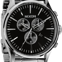 Nixon Sentry Chrono Black & Silver Analog Watch