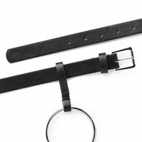 Ring Around Vegan Leather Belt