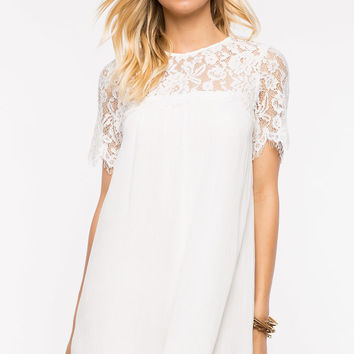 Carly Crochet Shift Dress