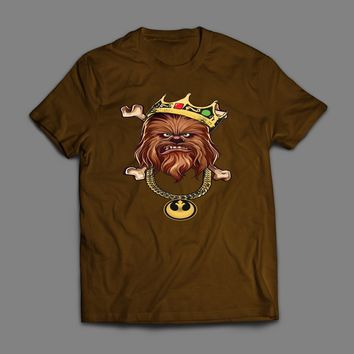"STAR WARS CHEWBACCA ""THE NOTORIOUS WOOKIE"" CUSTOM ART T-SHIRT"