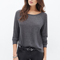 LOVE 21 Heathered Raglan Sweater