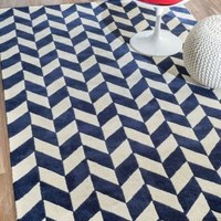 Rugs USA Savanna Chevron VE22 Navy Rug