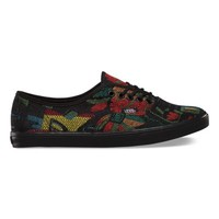 Vans Tapestry Floral Authentic Lo Pro (black/black)