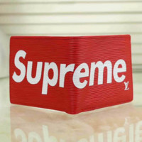 Supreme Women Tartan Leather Buckle Wallet Purse G-LLBPFSH