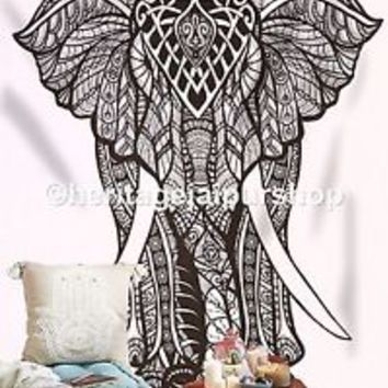 Elephant Tapestries Psychedelic wall from heritagejaipurshop on
