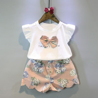 Girls Clothing Sets Kids Summer Clothes 2017 New Summer Girls Flower Bow Tops+ Floral Casual Shorts Pants Suits-in Clothing Sets from Mother & Kids on Aliexpress.com | Alibaba Group
