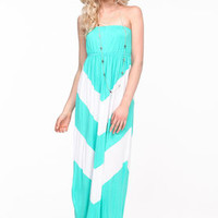 Chevron Jersey Maxi Dress - LoveCulture