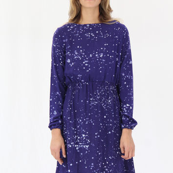 Osei Duro Aburi Dress Navy Splatter