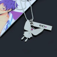Iwatobi Swim Club Rei Butterfly Crown Necklace Pendant