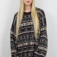 Vintage Tribal Aztec Print Cosby Sweater