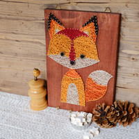 Fox wall decor and key holder