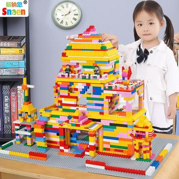 Snaen 1200 PCS Building Blocks Sets Assembly Bricks Educational Toys Gift with Figures Weapon for Kids Boys Compatible Legoed