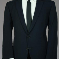 Vtg 60s Navy Check Blazer/Jacket Rat Pack 42 S Monkey Suit