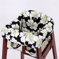 High Chair Cover in Lime Poppy