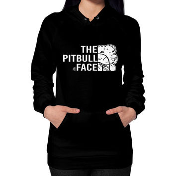Fashions the pitbull face Hoodie (on woman)