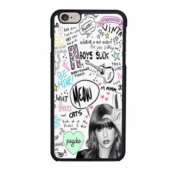taylor swift collage art love iphone 6 6s 4 4s 5 5s 6 plus cases