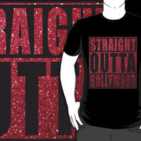 Straight Outta Hollywood red glitter by straightoutta