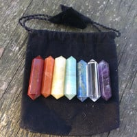 7 Double Terminated Chakra Wand Set