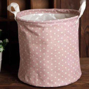 Dirty Clothes Laundry Basket Pouch Linen Washing Hamper Home Bag Housekeeping