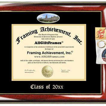 AllGiftFrames Custom Diploma Frame Embossed Georgetown University Best Graduation Degree Frame Double Mat Campus Fisheye Picture Frame Cheap Degree Georgetown Graduate Gift