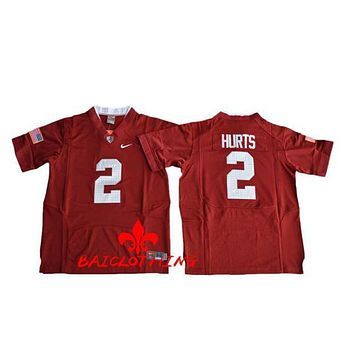 Alabama Crimson Tide Jalen Hurts 2 College Football Pro Combat Jersey Size S,M,L,XL