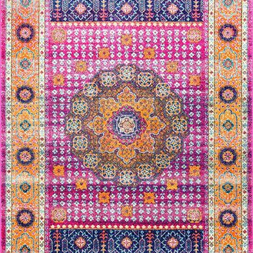 20038 Pink Medallion Persian Area Rugs