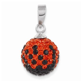 Sterling Silver Swarovski Elements Stillwater Spirit Ball Pendant