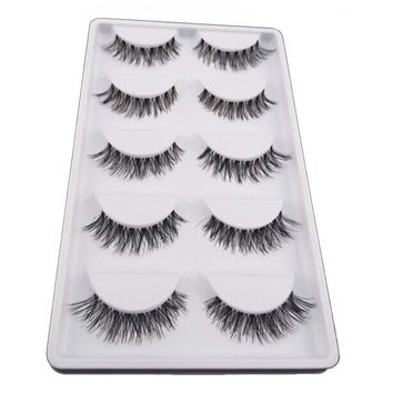 5Pair/Lot Crisscross False Eyelashes Fake Lashes Voluminous Natural False Eyelash Extension Cilios Posticos Make Up Wimpers