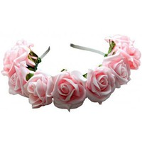 Sofia Floral Crown - Pale Pink - Dolly Bow Bow